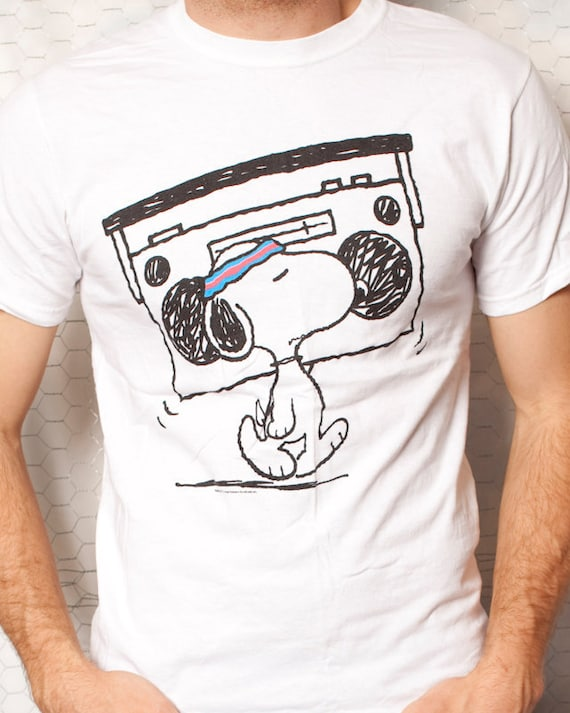 Hip Hop Snoopy - White Tshirt - M