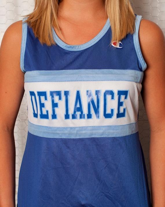 Cool Blue Track Jersey Tank - Defiance