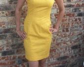 Pretty Woman: 80s Classic Yellow Shift Dress with Bolero Jacket