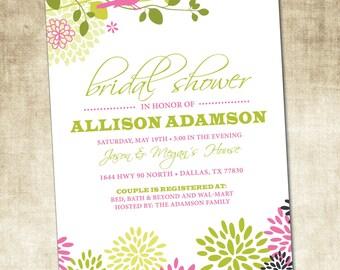 Bridal Shower Invitation (PRINTABLE FILE)