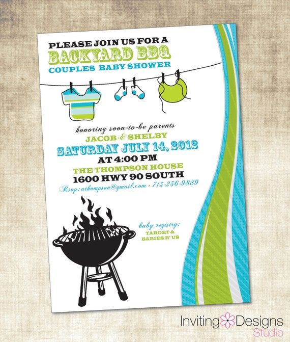 items similar to baby shower invitation bbq baby shower printable