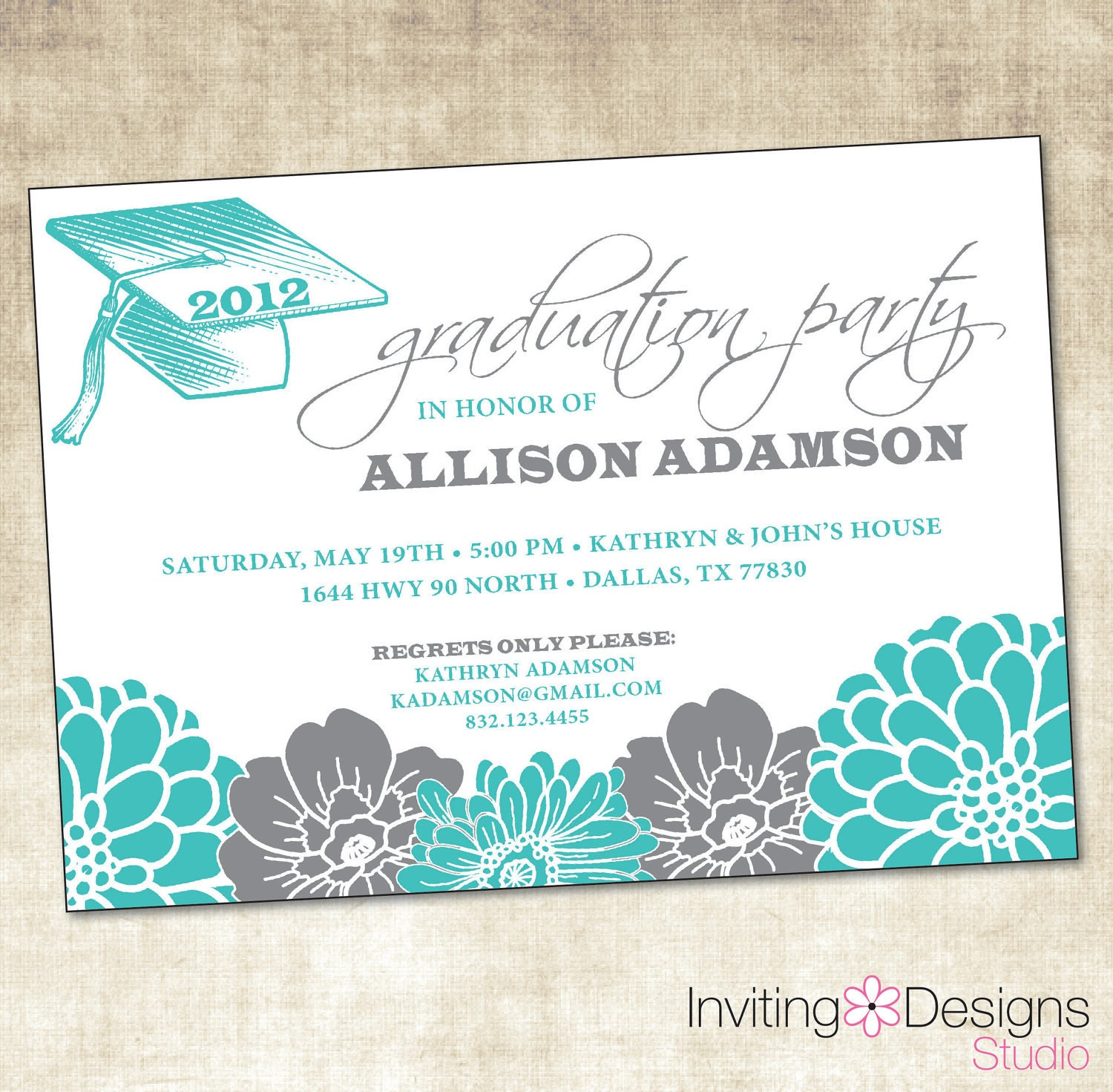 graduation party invitation printable file