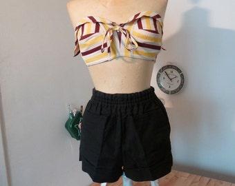 1940s BLACK pin up shorts