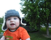 Crochet Baby Aviator Hat PDF Newborn-12months