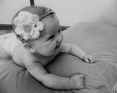 INSTANT DOWNLOAD Crochet Baby Rose Headband Pattern