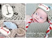 READY TO SHIP Boys Sock Monkey Hat Newborn size