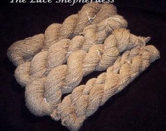 Handspun Yarn.423 yards Polworth wool.