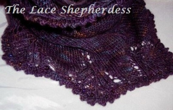 Hand knit Cowl or Smoke Ring. Matching beads. OOAK