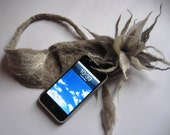 Hand felted iPhone or mobile phone case