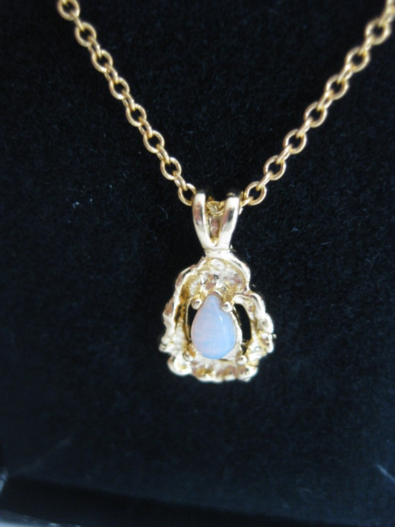 genuine opal necklace ronte of beverly c 1970s