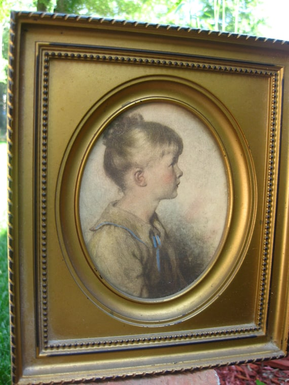 Charlotte by Sidney Bell, Artist c.1923, C and A Richards Framers, Boston, Mass