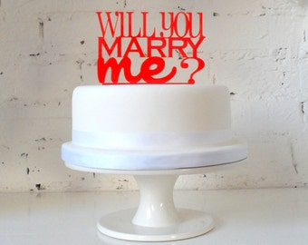 Will You Marry Me Cake Cake Topper