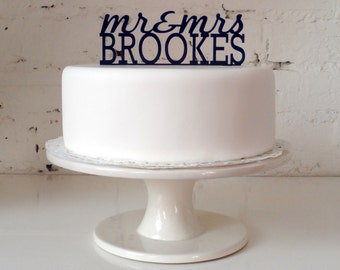Mr & Mrs...' Personalised Cake Topper - The Classic Design