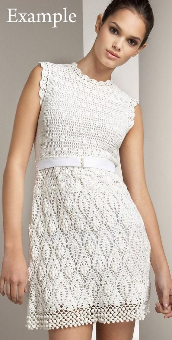 Crochet dress Sleeveless. Made to order. Custom made