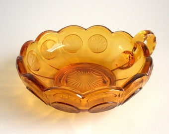 Fostoria Serving Dish/Nappy - Elegant Glass Coin Pattern - Vintage