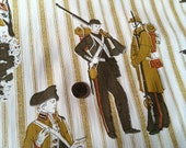 Vintage 1970s Vinyl Wallpaper-Kitsch Soldiers- by the yard