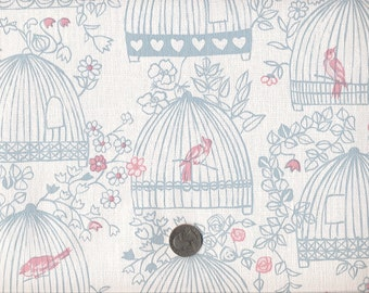 Vintage Wallpaper-1970s-Birdcages- by the yard
