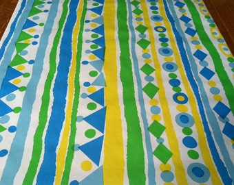 Vintage 1970s Wallpaper-Vibrant Geometric by Imperial- by the yard