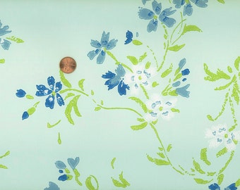 Vintage 1970s Wallpaper- Lovely Lyrical Floral-by the yard