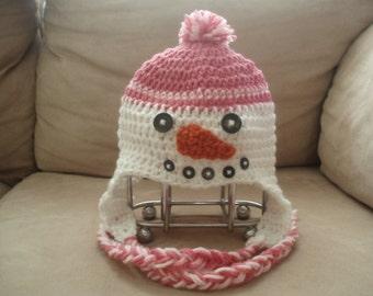 SALE PRICE!! Snowman Hat Crochet Pattern PDF Format- All Sizes