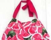 Yummy Watermelon - Reversable Cordaroy Everything Bag