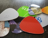 Recycled Guitar Picks w/ Decoupage Matchbox - 10 pack