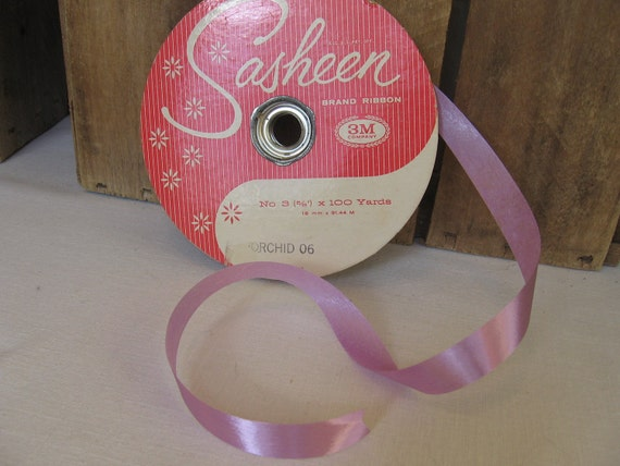 Sasheen Brand Ribbon Lilac 5/8 inch by 3M Orchid color ribbon 50 yards