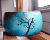 Handpainted Wooden Tree Bangle ( Medium)