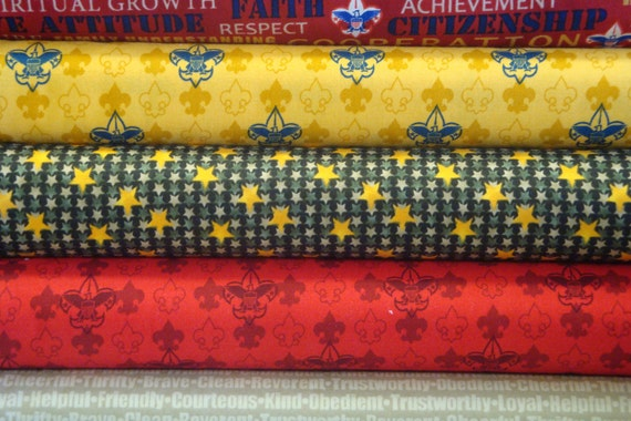 Boy Scouts of America Fabric from Robert Kaufman, One Yard Cuts