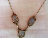 sterling silver mexican moonstone necklace