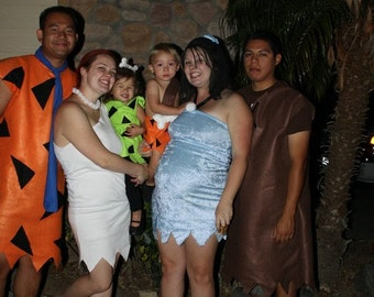 Adult costumes wilma fred barney betty pebbles or bam bam flintstone adult costume, or betty rubble ,or pebbles