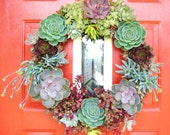 """Reserved BsStudio for 18"""" Succulent Living Wreath - Perfect Unique Gift and Home Decor"""