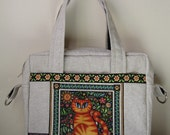 Reserved for tracyosborn - Cat Messenger iPad Bag with matching Cat Wallet