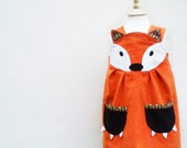 Fox Dress - Little girls character play dress 6m to 6y - wildthingsdresses