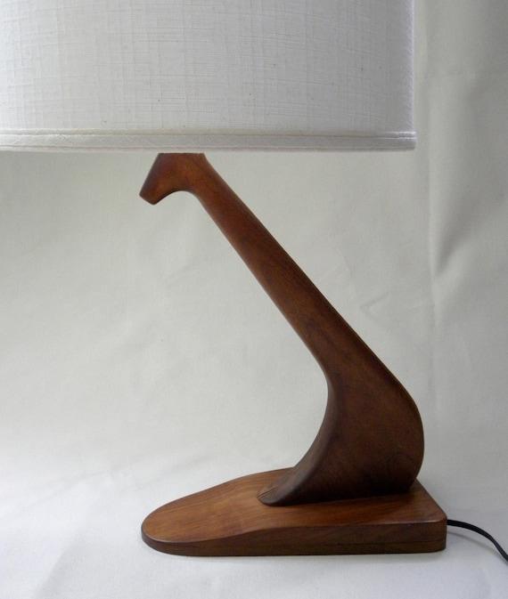 Handmade Vintage Wood Table Lamp