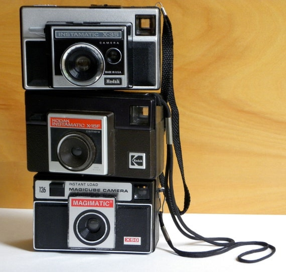 Set of 3 Vintage Kodak Instamatic Cameras