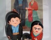 Diego Rivera and Frida Kahlo Russian Nesting Dolls