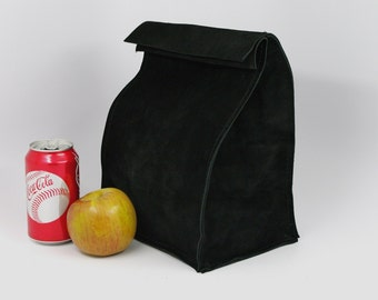 Large Leather Lunch Bag