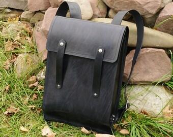 Large Rugged Rucksack - Black
