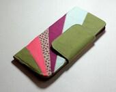 Fancy retro style colour block wallet