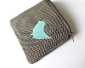 cute cotton and bird purse
