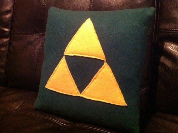 Zelda Triforce Pillow