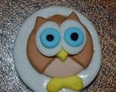 Cute Owl Cupcake or Cookie Topper