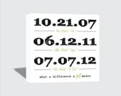 12x12 Special Dates Canvas Wrap - Wedding Gift Wall Art