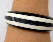 Bangle Shultz look Stripe Vintage