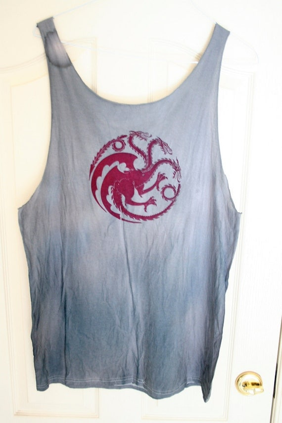 LARGE Marbled grey Targaryen tank (men or women's)