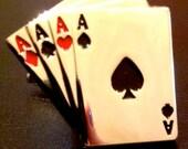 deck of cards gambler's CUFFLINKS. great gift for men.