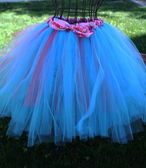 Beautiful turquoise  tutu skirt for garden or/and beach  weddings, flower girls, birthdays