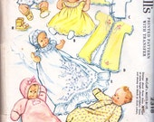 Layette Pattern With Transfers Dated 1959 McCall's 2318