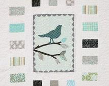 Quilt Pattern PDF bird easy applique modern simple baby patterns Mod Tweet